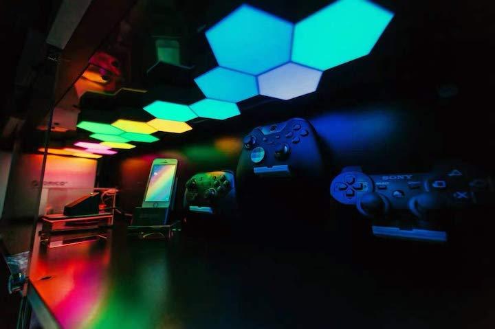 LED Waben im Schrank