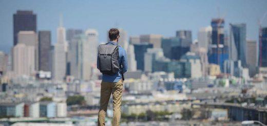 Peak Design Kamera Rucksack wird getragen