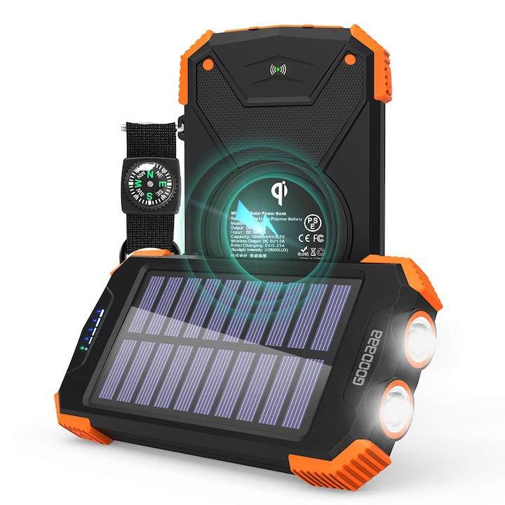 Powebank mit Licht und Solarpanel