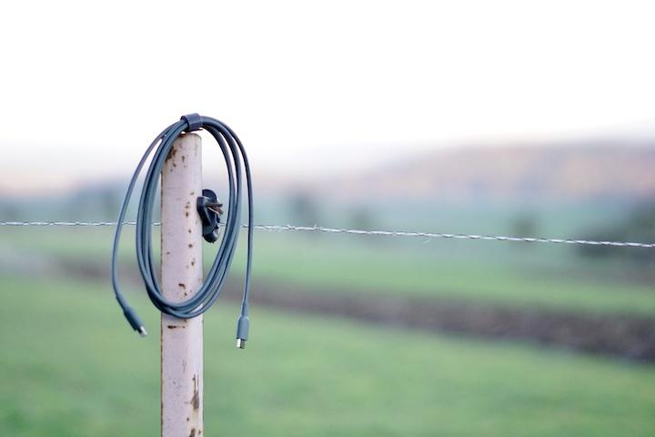 Powerline II Kabel Anker Wiese Weidezaun Stab