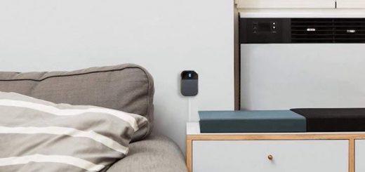 Sensor an der Wand angebracht
