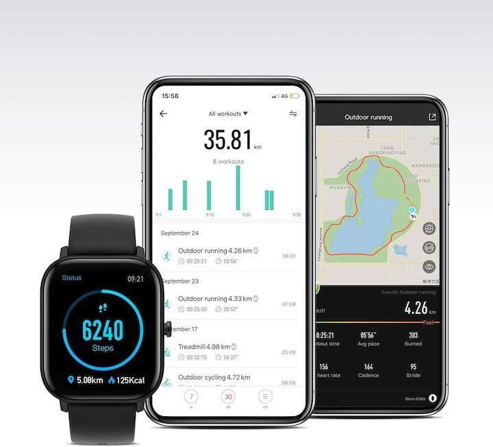 Smartwatch Amazfit mit App
