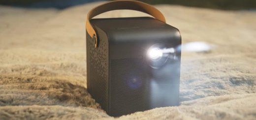 Mini Projektor in Betrieb