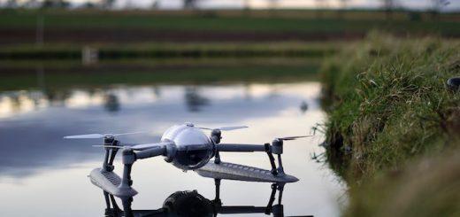 PowerVision Drohne schwimmt im Wasser 520x245