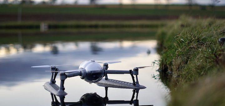 PowerVision Drohne schwimmt im Wasser 720x340