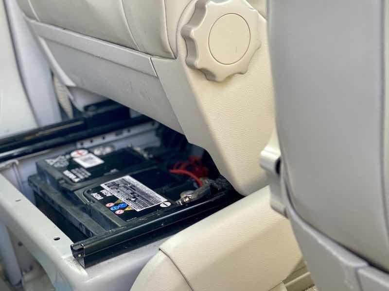 Verbraucherbatterie unter dem fahrersitz t6 california ocean volkswagen