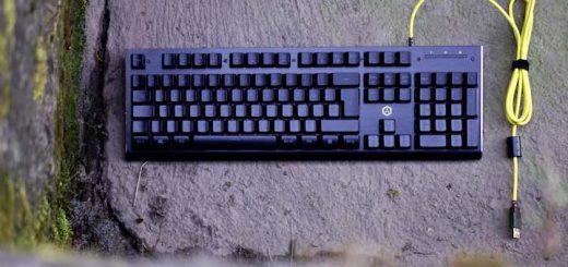 ISY IGK 3000 Gaming Tastatur liegt auf Betonboden 520x245