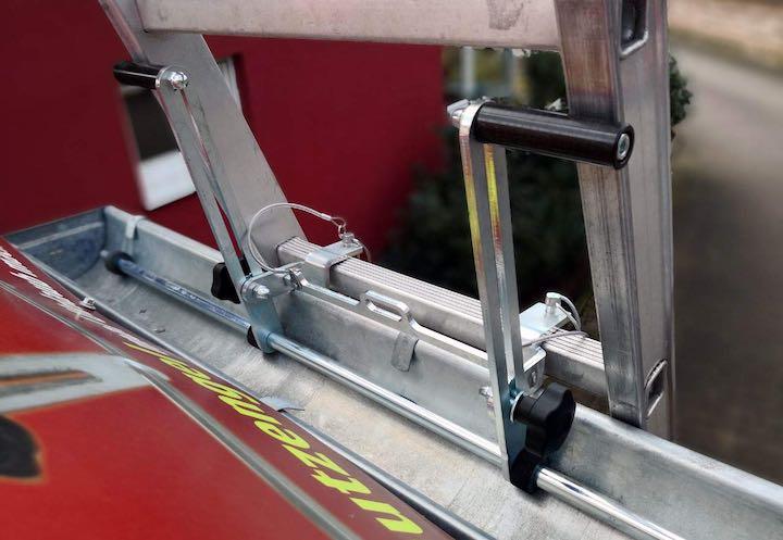 Leitersicherung ist montiert