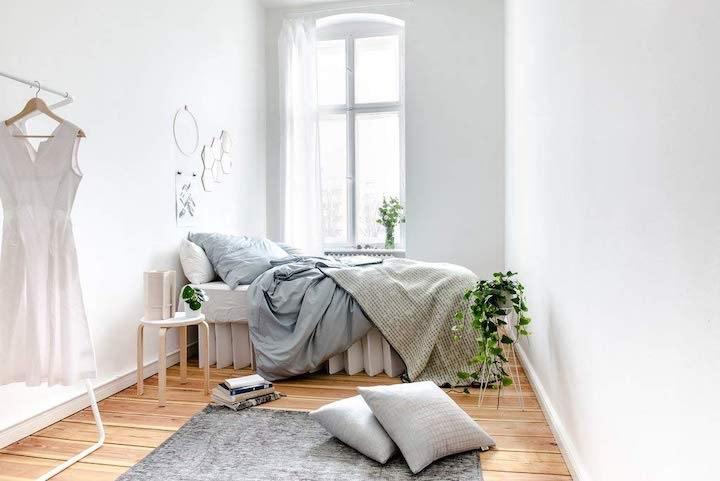 ROOM IN A BOX Bett 2.0 eingerichtet