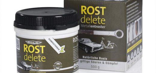 ROSTdelete steht vor ROSTdelete Verpackung 520x245