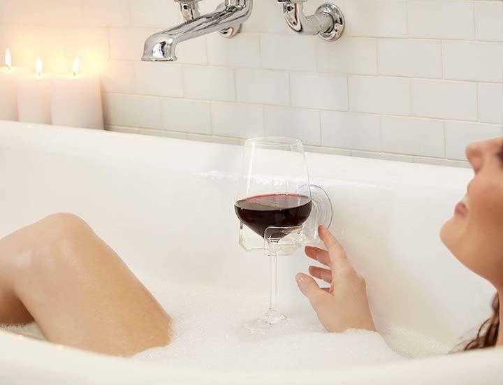 Weinglashalter mit Saugnapf