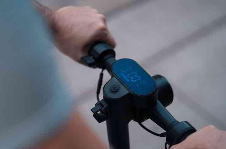 faltbares fahrrad mit viel technik