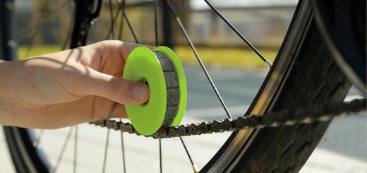 GREEN DISC Anwendung an Fahrradkette