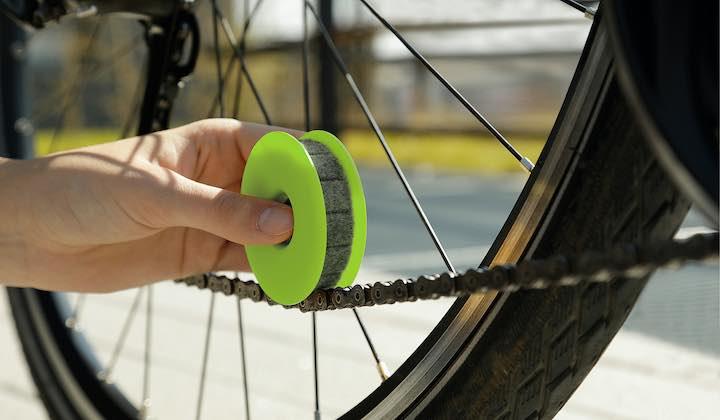GREEN DISCH Anwendung an Fahrradkette
