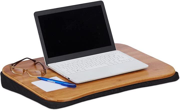 Laptopkissen mit Bambusholz 1