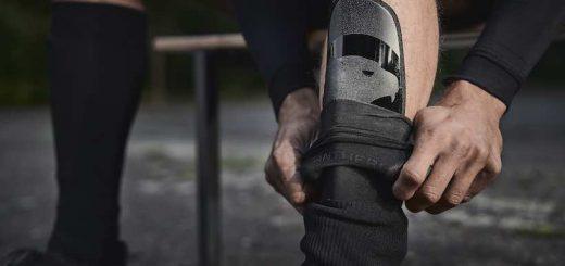 Schienbeinschoner von PANTHERGRIP hoher Schutz durch Muskelpassform 520x245