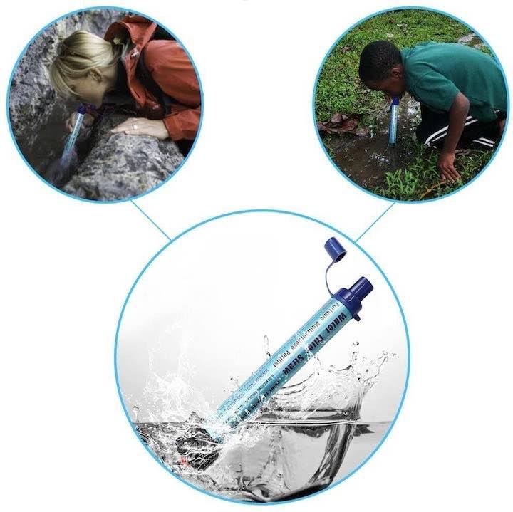 Wasserfilter in Anwendung