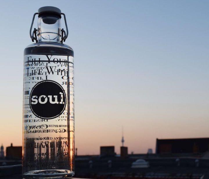 Soulbottle Flasche mit Sonnenuntergang