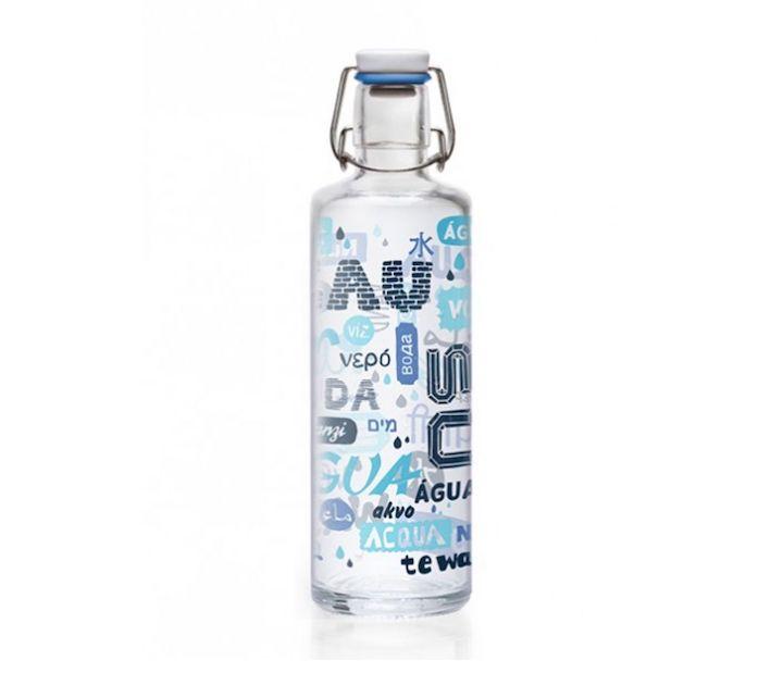 Soulbottle Flasche mit blauem Aufdruck