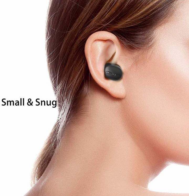 True Wireless Kopfhoerer fuer kleine Ohren