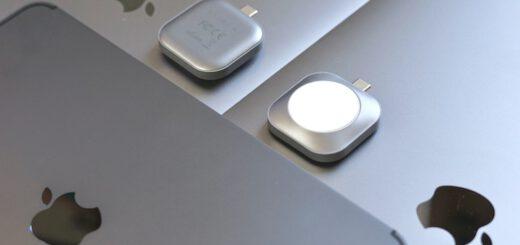 Satechi USB C Ladestation liegt auf Apple ipad und MacBook 520x245