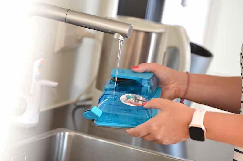 wischeinheit mit wasser auffuellen