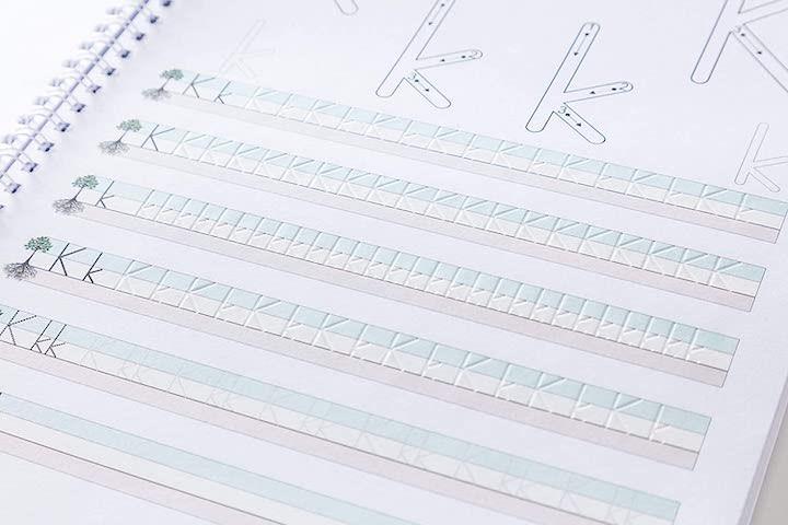Schreibpilot von Schreibathlet Lernheft mit Rillen
