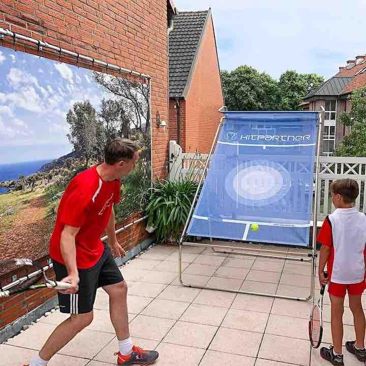 hitpartner mobile tenniswand training gross und klein