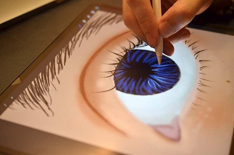 zeichnen auf paperlike folie