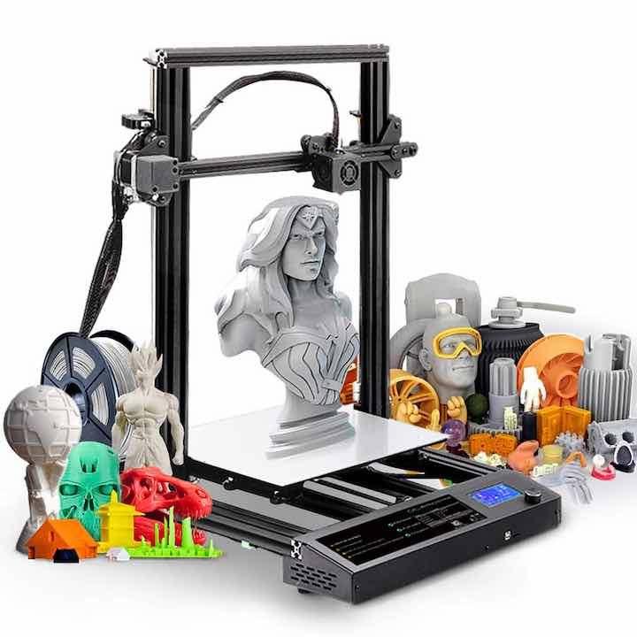 SUNLU S8 3D Drucker mit verschiedenen Figuren