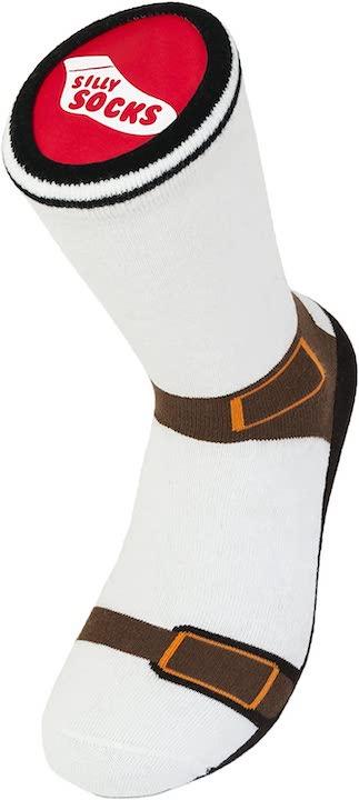 Socken mit Sandalen Print