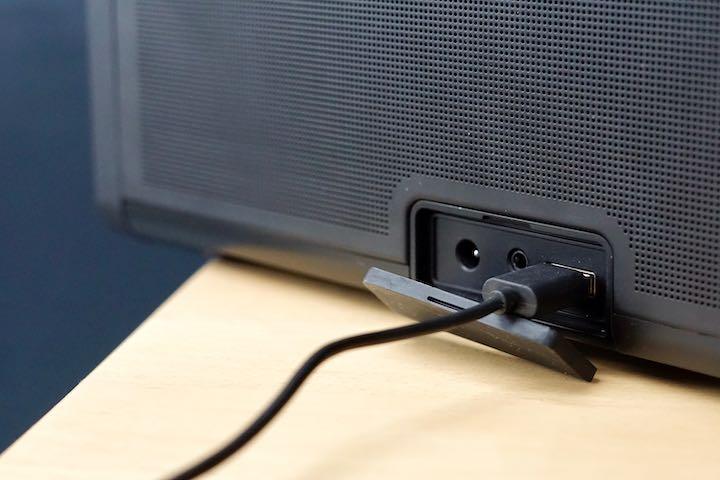 Anschluesse einer Lautsprecher Box