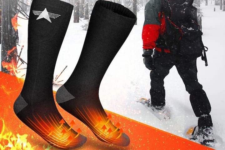 EEIEER beheizte Socken in Schneeschuhen