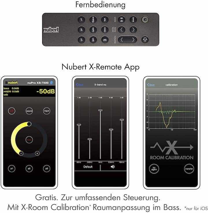 Nubert Soundbar Fernbedienung und App