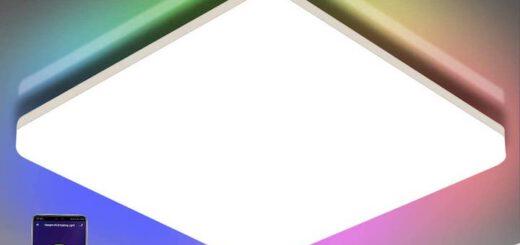 Oeegoo Wifi LED Deckenleuchte in RGB Farben 520x245
