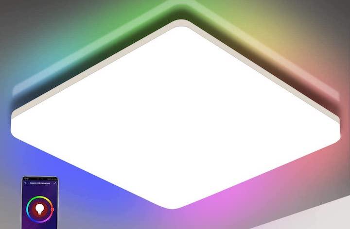 Oeegoo Wifi LED Deckenleuchte in RGB Farben