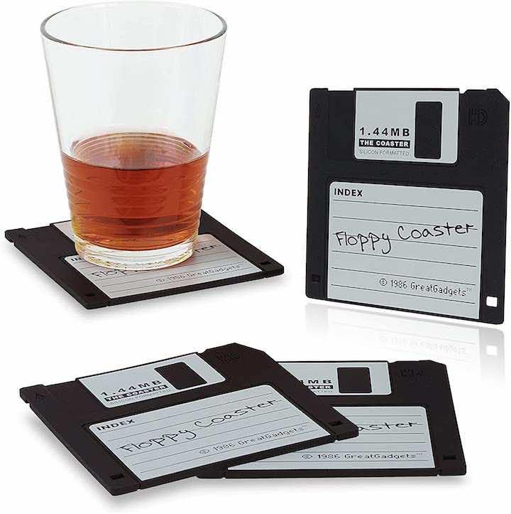 Untersetzer Diskette mit Getraenk