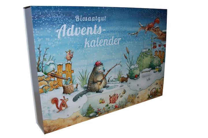 Weihnachtliches Motiv Bio Saatgut Adventskalender