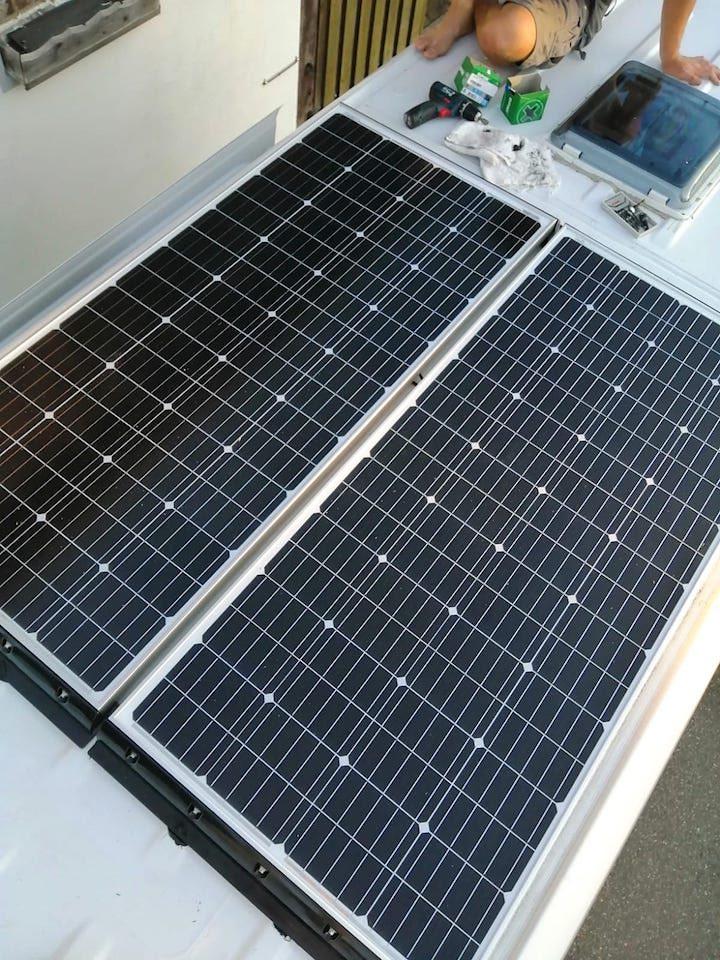 fertig montierte solaranlage von offgridtec