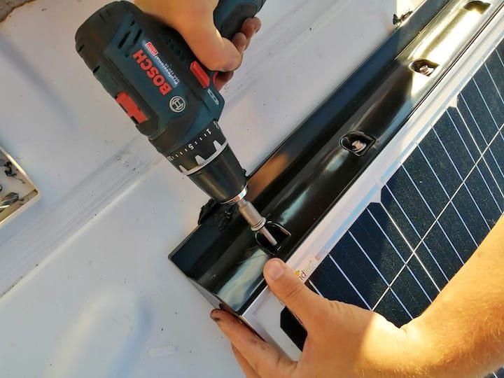 offgridtec solaranlage nicht nur verklebt auch verschraubt