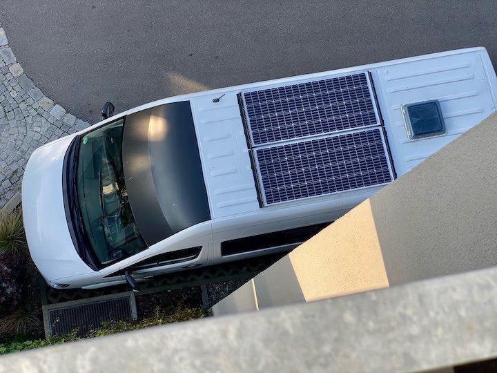 offgridtec solaranlage von oben campervan