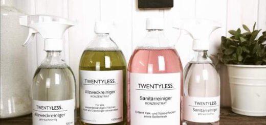 twentyless reinigungsmittel glasflasche konzentrat 520x245