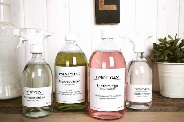 twentyless reinigungsmittel glasflasche konzentrat