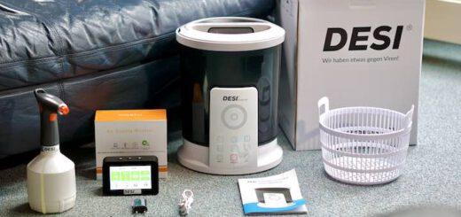 DESI S Set Lieferumfang steht auf dem Boden 520x245