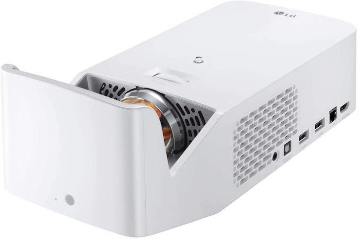 LG CineBeam HF65LS Adagio 2.0 schraege Seitenansicht