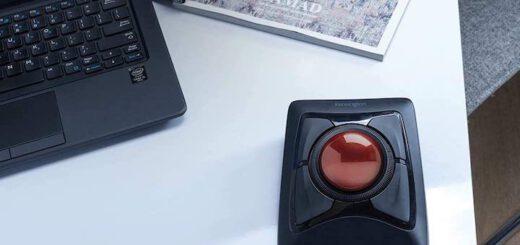Maus mit Trackball auf Schreibtisch 520x245
