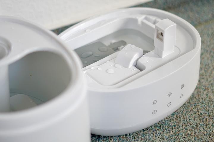 TaoTronics Luftbefeuchter mit Wasser Innenansicht