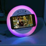 WILIT LED Nachttischlampe mit ladepad und lautsprecher 160x160