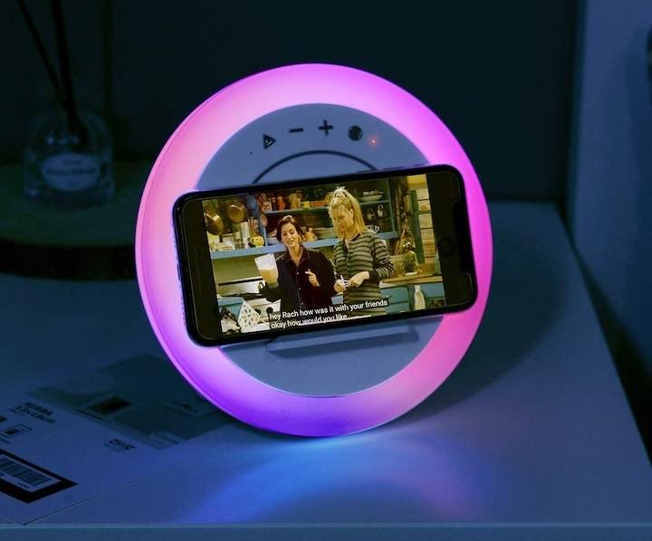 WILIT LED Nachttischlampe mit ladepad und lautsprecher