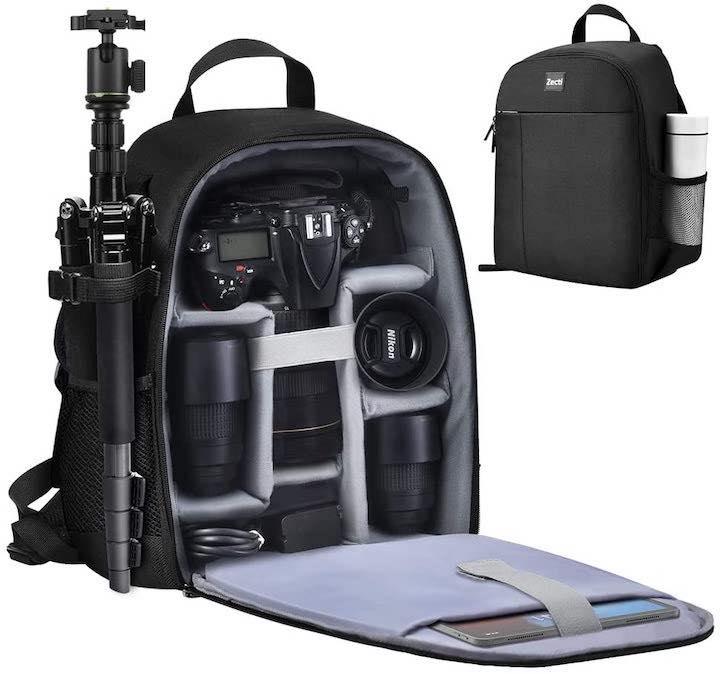 Zecti Kamerarucksack mit Einteilungen